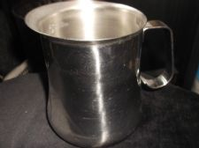 STAINLESS STEEL JUG WIDE SPOUT VEV 18/10 MADE IN ITALY 5.5""